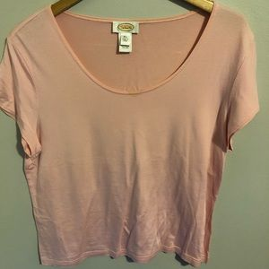 Talbots Pink Short-Sleeve Top